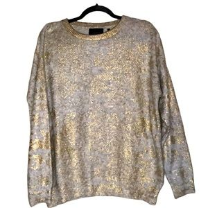 2/$20Line the Label gold metallic sweater small
